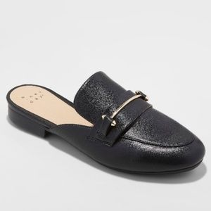 Remmy Backless Chic Fall Loafers - A New Day Black